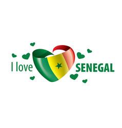 national flag senegal in shape vector image