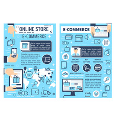 Online store e-commerce shopping delivery vector