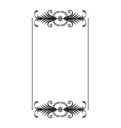 oriental ornaments old frame isolated on white vector image