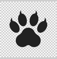 Paw print icon isolated on isolated background vector