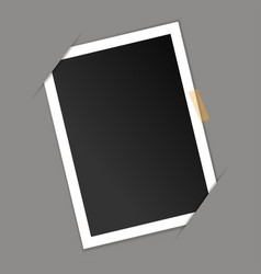 Photo frame blank on gray background vector