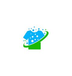 planet laundry logo icon design vector image