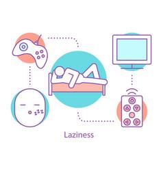 Procrastination concept icon vector