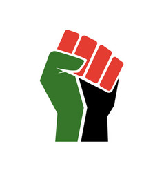 raised fist symbol black lives matter logo vector image