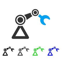 robotics manipulator flat icon vector image