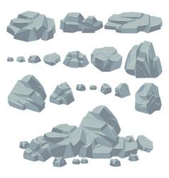Rock stones natural stone rocks massive boulders vector