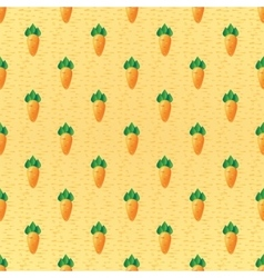 Seamless background root crop carrots vector