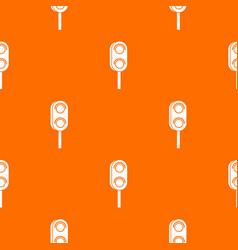 Semaphore trafficlight pattern seamless vector