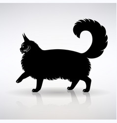 Silhouette a standing cat side view vector