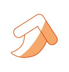 Silhouette arrow symbol icon design vector
