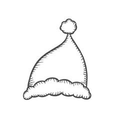 sketch of santa hat vector image