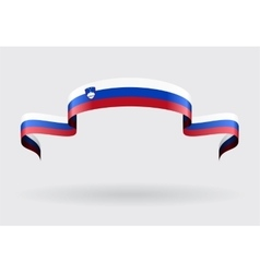 Slovenian flag background vector