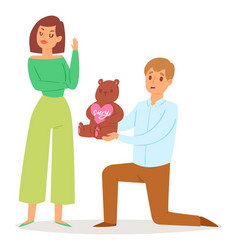 sorry people family relationship vector image