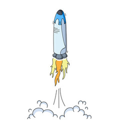 space ship rocket launch vector image