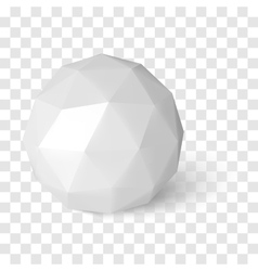 Sphere on transparency background low poly object vector image