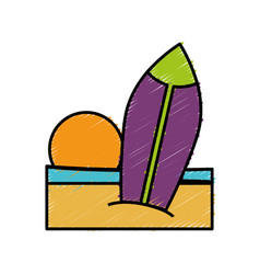 Surfboard icon image vector