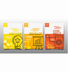 Template layout design business cover book vector