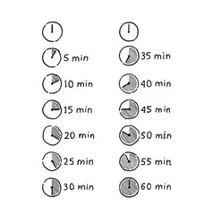 timer infographic icon vector image