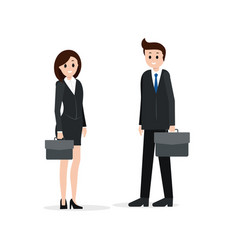 Two business partners man and woman vector