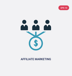 Two color affiliate marketing icon from vector