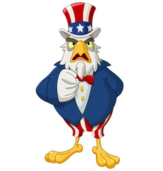 uncle sam eagle vector image