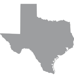 US state of Texas vector image