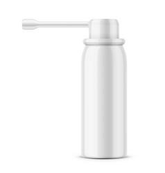 White glossy oral spray bottle vector