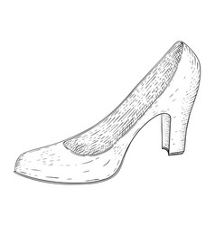 women shoe hand drawn sketch vector image