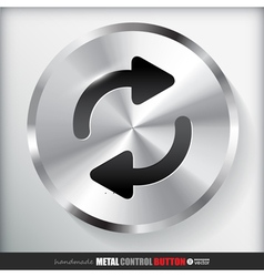 Circle Metal Repeat Button Applicated for HTML and vector image vector image