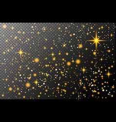 cosmos gold glitter particles background effect vector image