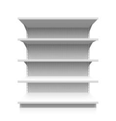 Empty supermarket shelf vector image vector image