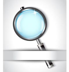 magnifying glass and paper vector image