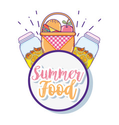 summer food and juice vector image