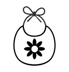 Baby bib simple icon vector image vector image
