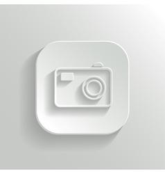 Camera icon - white app button vector image vector image