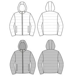 Hooded jacket vector image vector image