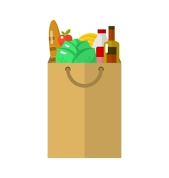 Paper package flat icon vector image vector image