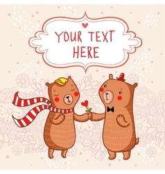 Romantic cartoon background vector image