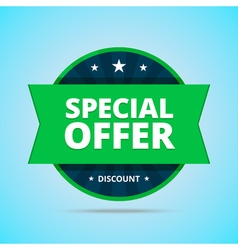 Special offer badge in flat style vector image