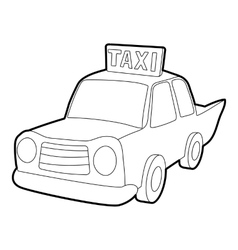 Taxi icon outline style vector image