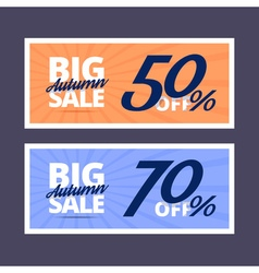 Big autumn sale banners vector image vector image