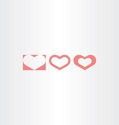 light red heart shape symbols design elements vector image vector image