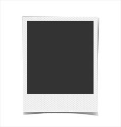 Retro blank photo frame background vector image vector image