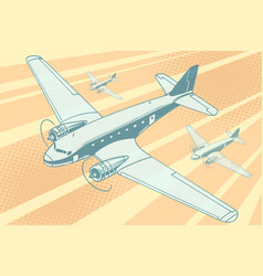 planes flying in the sky vector image vector image