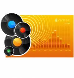vinyl disks vector image vector image