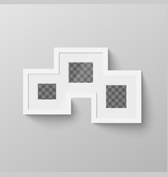 white blank picture frame with transparent place vector image vector image