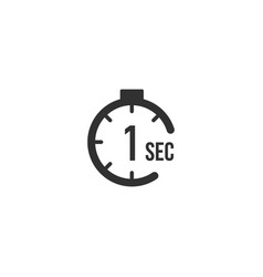 1 second countdown timer icon set time interval vector