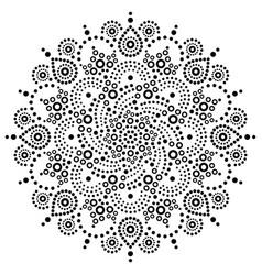 Aboriginal bohemian dot painting mandala pa vector