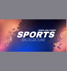 Abstract sport background with brocken brick wall vector