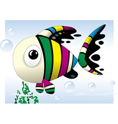 bafish cute colorful cartoon vector image